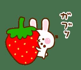 Rabbit Strawberry 11 sticker #12465730