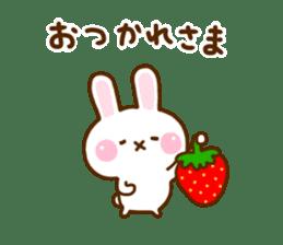 Rabbit Strawberry 11 sticker #12465736
