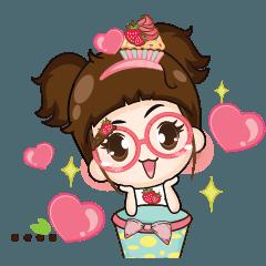Cupcakes cute girl +