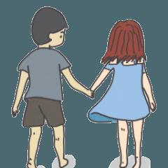 สติ๊กเกอร์ไลน์ กาก้า: เจ้าความรักของฉัน