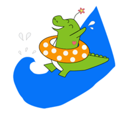 Vanilla Crocodile & friends sticker #12472114