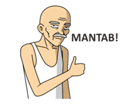 Solihin Si Kakek Kekinian animated sticker #12480377