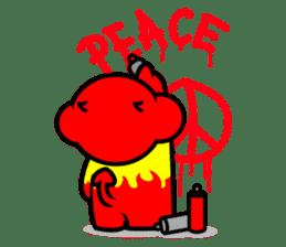 Devil monkey DMK sticker #12481003