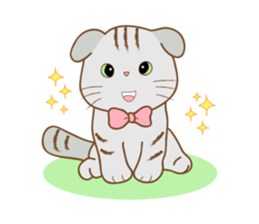 Folded Kitten sticker #12481710