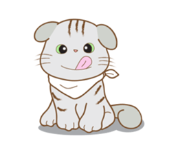 Folded Kitten sticker #12481733