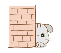 Folded Kitten sticker #12481737