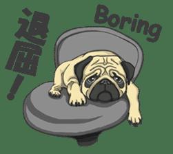 Fawn Pug2 sticker #12485090
