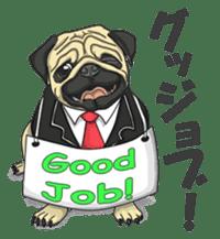 Fawn Pug2 sticker #12485093
