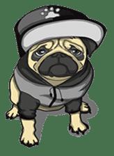 Fawn Pug2 sticker #12485097
