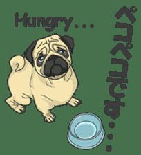 Fawn Pug2 sticker #12485099
