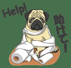 Fawn Pug2 sticker #12485100