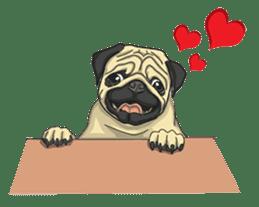 Fawn Pug2 sticker #12485107