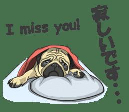 Fawn Pug2 sticker #12485108