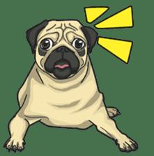 Fawn Pug2 sticker #12485117