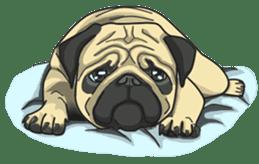Fawn Pug2 sticker #12485119