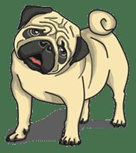 Fawn Pug2 sticker #12485124
