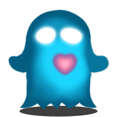 Cute Heart-Glowing Ghost (animated)