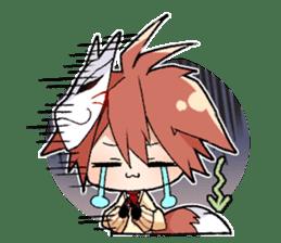 Fox boy sticker #12491622