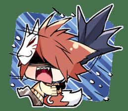 Fox boy sticker #12491623
