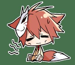 Fox boy sticker #12491627