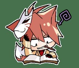 Fox boy sticker #12491629