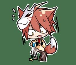 Fox boy sticker #12491631