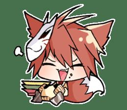 Fox boy sticker #12491632