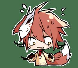 Fox boy sticker #12491634