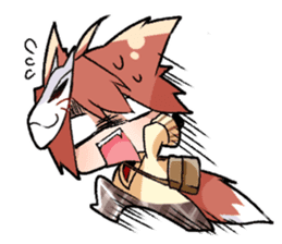 Fox boy sticker #12491635