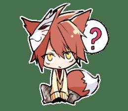 Fox boy sticker #12491638