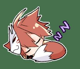Fox boy sticker #12491640