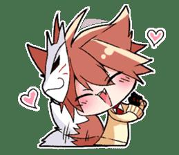 Fox boy sticker #12491642