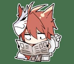 Fox boy sticker #12491643