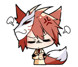 Fox boy sticker #12491657
