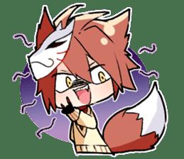 Fox boy sticker #12491658