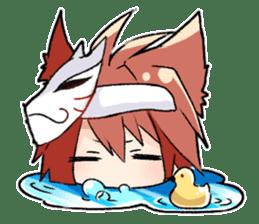 Fox boy sticker #12491659