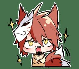 Fox boy sticker #12491660