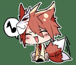 Fox boy sticker #12491661