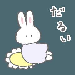 The fluffy bunny sticker 3