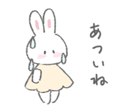 The fluffy bunny sticker 3 sticker #12504284