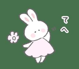 The fluffy bunny sticker 3 sticker #12504288