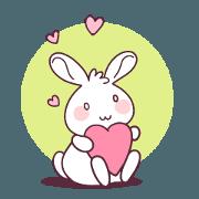 สติ๊กเกอร์ไลน์ กระต่ายน้อยน่ารักจัง