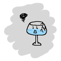 The Wineglass Rhapsody sticker #12514017