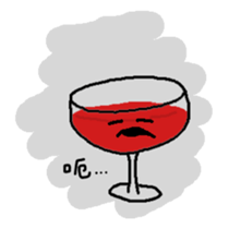 The Wineglass Rhapsody sticker #12514029