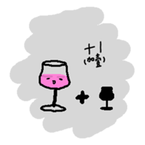 The Wineglass Rhapsody sticker #12514035