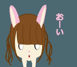Rabbit system girl. sticker #12515535