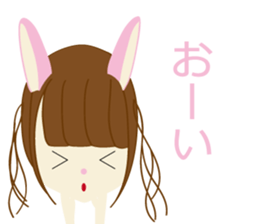 Rabbit system girl. sticker #12515536