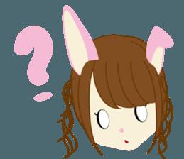 Rabbit system girl. sticker #12515539
