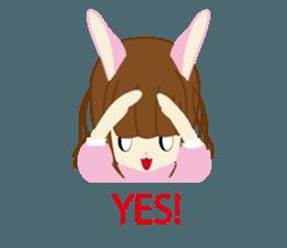 Rabbit system girl. sticker #12515541