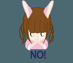 Rabbit system girl. sticker #12515542